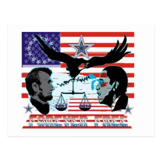 Abe-Obama-Forever-free-set-1AB Postcard