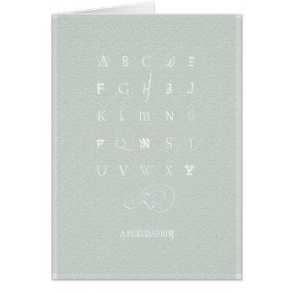 Abecedarium: Notecard, Celadon Green Greeting Card