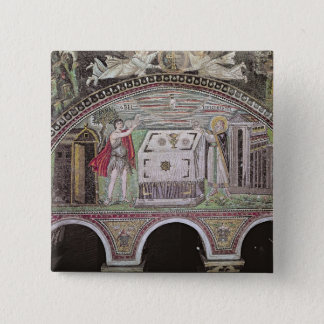 Abel and Melchisedech offering at the Altar 15 Cm Square Badge