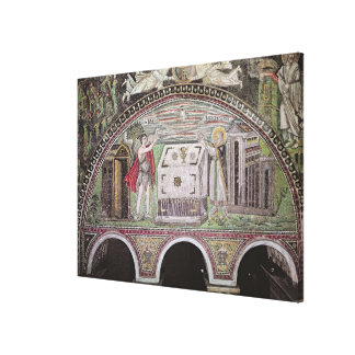 Abel and Melchisedech offering at the Altar Canvas Print