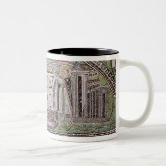 Abel and Melchisedech offering at the Altar Two-Tone Coffee Mug