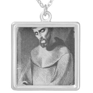 Abelard as monk at Saint-Gildas-de-Rhuys Silver Plated Necklace