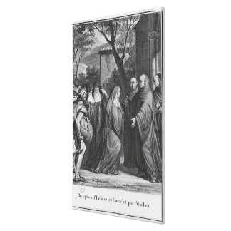 Abelard welcoming Heloise at Paraclete Canvas Print