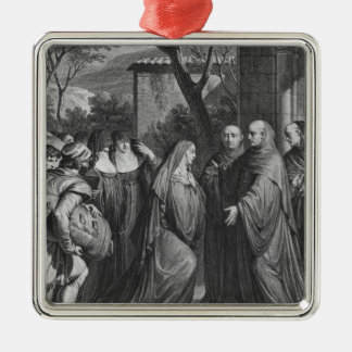 Abelard welcoming Heloise at Paraclete Christmas Ornament