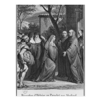 Abelard welcoming Heloise at Paraclete Postcard