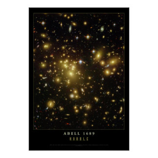 Abell 1689 Galaxies Astronomy Poster