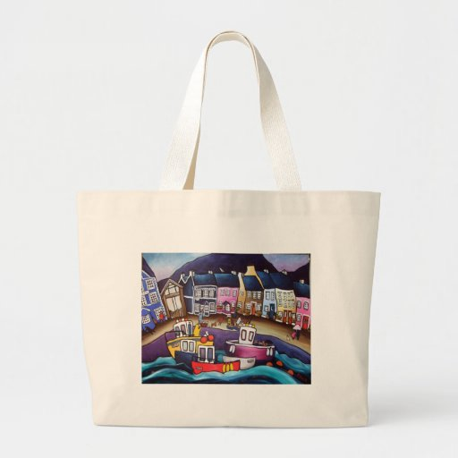 Aberaeron-catch-of-the-day Tote Bags