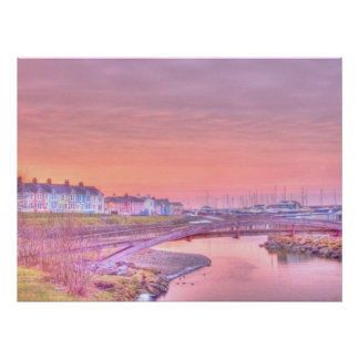 "Aberaeron Harbour ""Painting"" Poster"