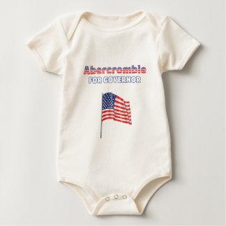 Abercrombie for Governor Patriotic American Flag Romper