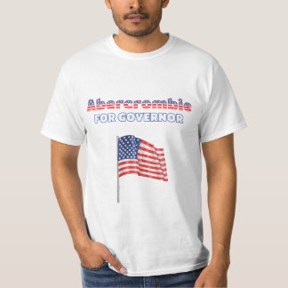 Abercrombie for Governor Patriotic American Flag T-Shirt