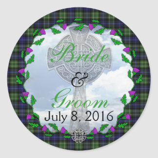 Abercrombie Scottish Wedding Favor Round Sticker
