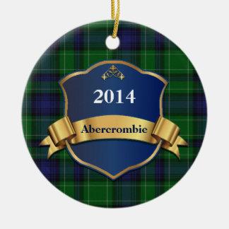 Abercrombie Tartan Plaid Custom ornament