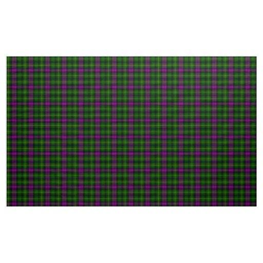 Abercrombie Tartan Purple and Green Plaid Fabric