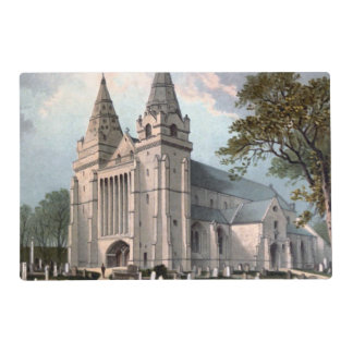 Aberdeen Cathedral circa 1908, Scotland Laminated Placemat