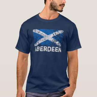 Aberdeen + Grunge Scottish Flag T-Shirt