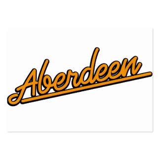 Aberdeen in orange business card templates
