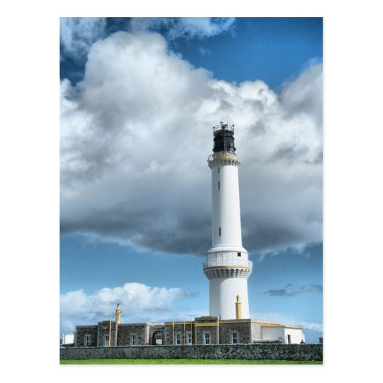 Aberdeen Scotland Light House Postcard