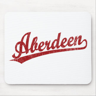 Aberdeen script logo in red mouse pad