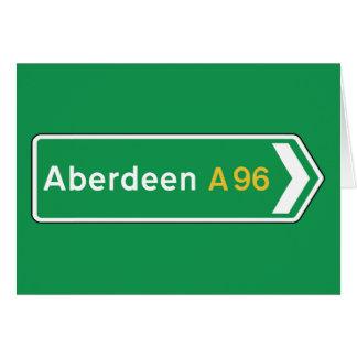Aberdeen, UK Road Sign Card