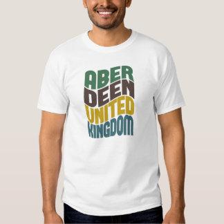 Aberdeen United Kingdom Retro Wave Tshirts