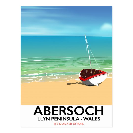 Abersoch, Llyn Peninsula Wales holiday poster Postcard