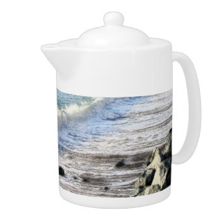Aberystwyth Beach Teapot