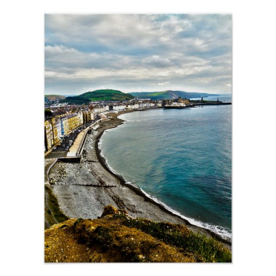 Aberystwyth North Beach Poster