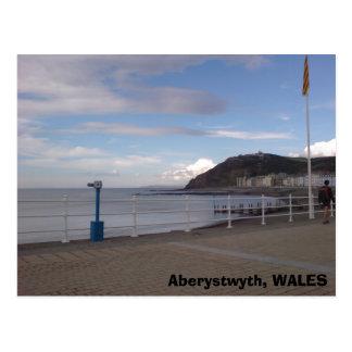 Aberystwyth, WALES Postcard