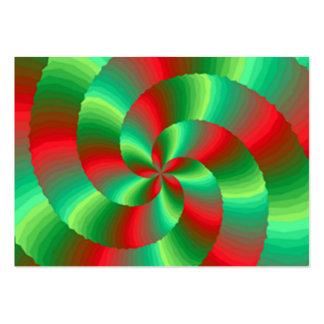 abestrato com formas circulares cartão de visita
