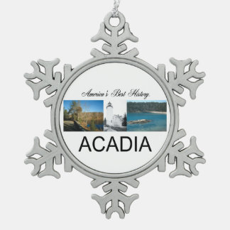 ABH Acadia Snowflake Pewter Christmas Ornament