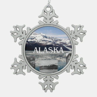ABH Alaska Snowflake Pewter Christmas Ornament