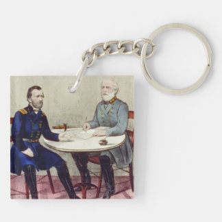 ABH Appomattox Double-Sided Square Acrylic Keychain