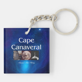 ABH Cape Canaveral Double-Sided Square Acrylic Key Ring