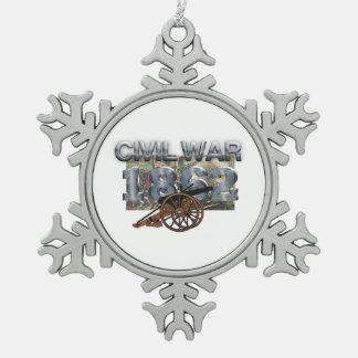 ABH Civil War 1862 Pewter Snowflake Decoration