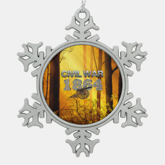 ABH Civil War 1864 Pewter Snowflake Decoration