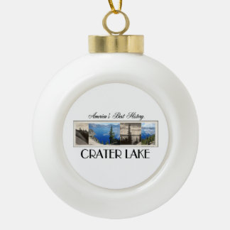 ABH Crater Lake Ceramic Ball Christmas Ornament
