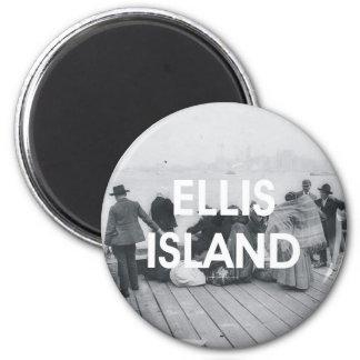 ABH Ellis Island 6 Cm Round Magnet
