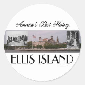 ABH Ellis Island Classic Round Sticker