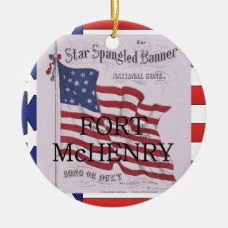 ABH Fort McHenry Round Ceramic Decoration