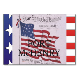 ABH Fort McHenry Table Card