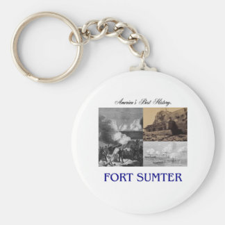 ABH Fort Sumter Basic Round Button Key Ring