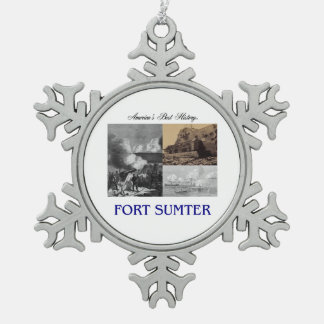 ABH Fort Sumter Pewter Snowflake Decoration