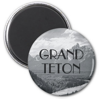 ABH Grand Teton 6 Cm Round Magnet