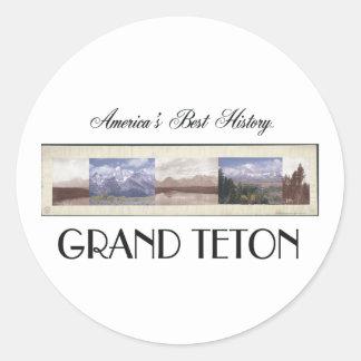 ABH Grand Teton Round Stickers