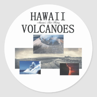 ABH Hawaii Volcano Round Sticker