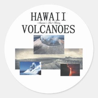 ABH Hawaii Volcano Round Sticker