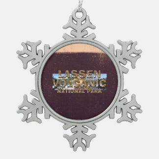 ABH Lassen Volcanic Snowflake Pewter Christmas Ornament