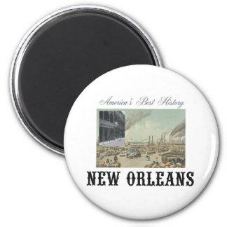 ABH New Orleans 6 Cm Round Magnet