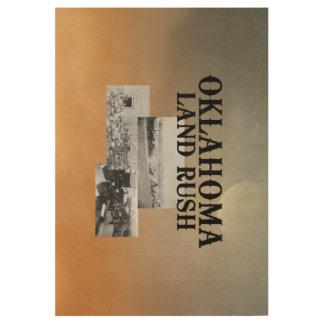 ABH Oklahoma Land Rush Wood Poster