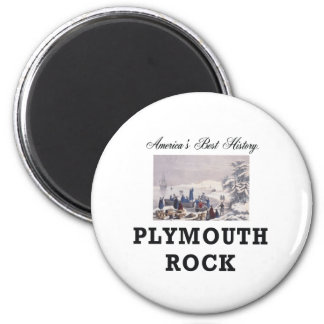 ABH Plymouth Rock 6 Cm Round Magnet